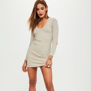 Brand new Missguided Nude Long Sleeve Bodycon
